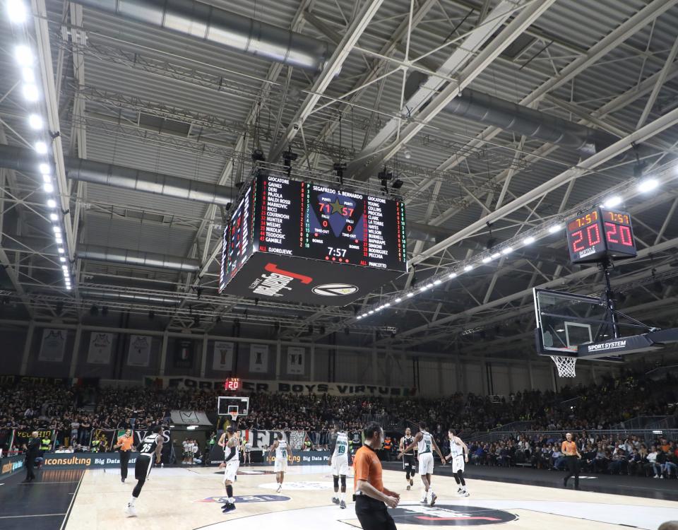 Illuminazione nuovo impianto sportivo Virtus Arena, Fiera di Bologna